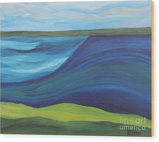 Stormy Lake Wood Print