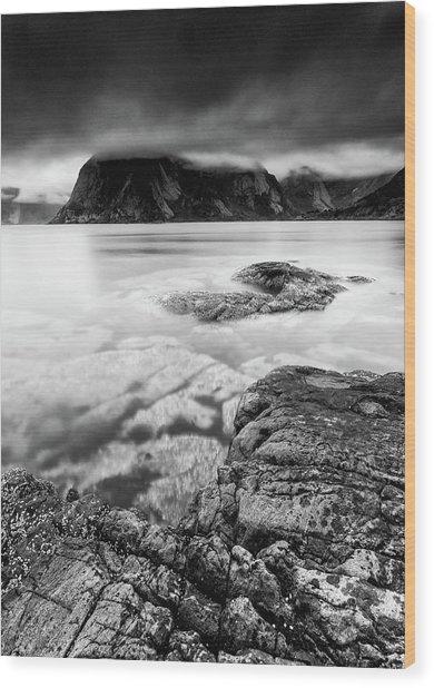 Stormy Lofoten Wood Print