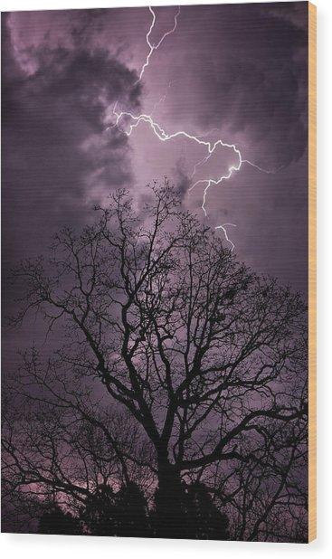 Stormy Night Wood Print