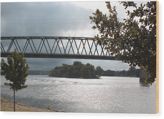 Stormy Ohio River Wood Print