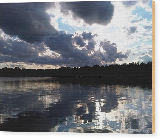 Stormy Reflections Wood Print by Jessica Yudis