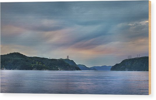 Stormy Saguenay Sunset Wood Print