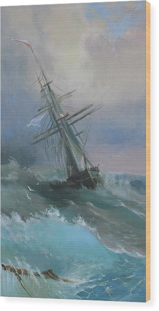 Stormy Sails Wood Print