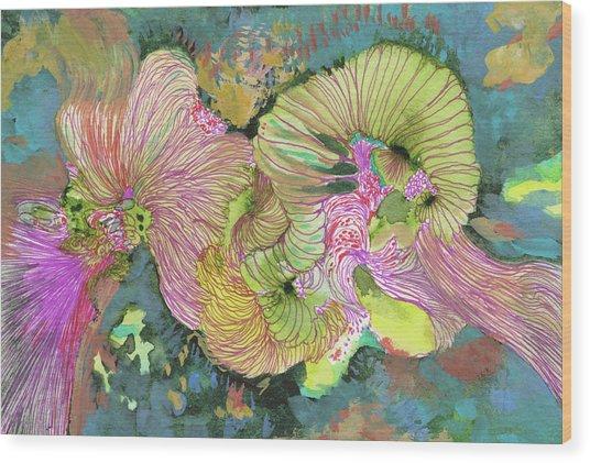 Stormy - #ss18dw016 Wood Print by Satomi Sugimoto