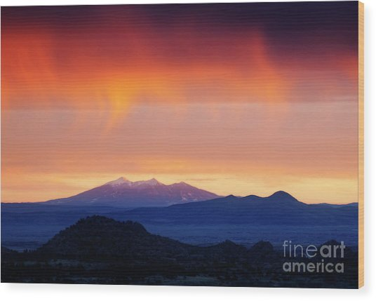 Wood Print featuring the photograph Stormy Sunset by Scott Kemper