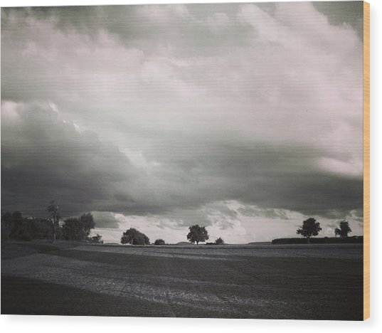 Stormy Times Wood Print