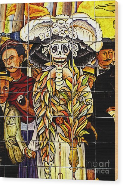 Story Of Mexico 7 Wood Print by Mexicolors Art Photography