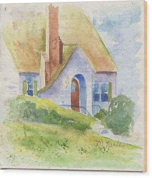 Storybook House Wood Print