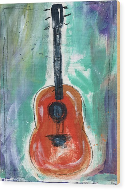 Storyteller's Guitar Wood Print