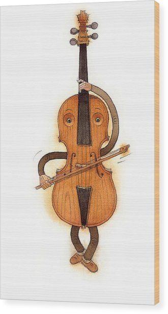Stradivarius Violin Wood Print