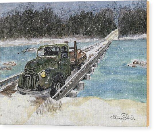 Stranded On Rockford Bridge Wood Print by Penny Everhart