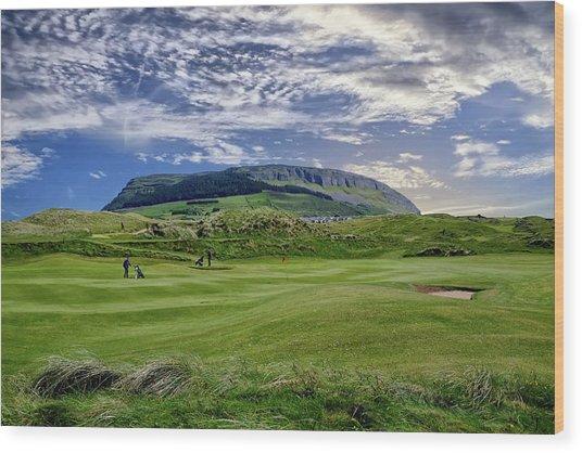 Strandhill Golf Course And Knocknarae Wood Print