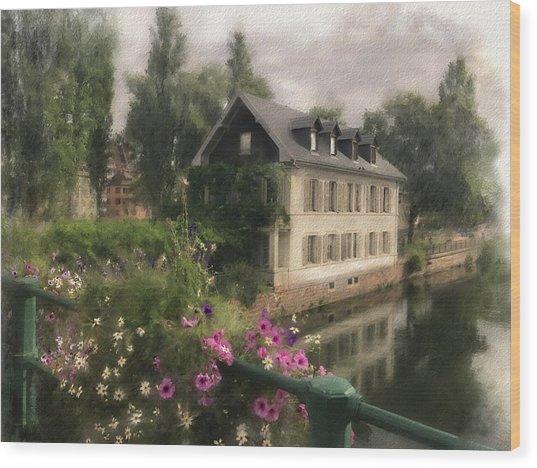 Strasbourg Bridge Wood Print