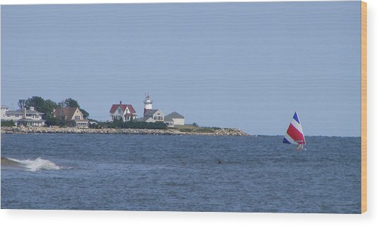 Stratford Ct Lighthouse Wood Print by Margie Avellino