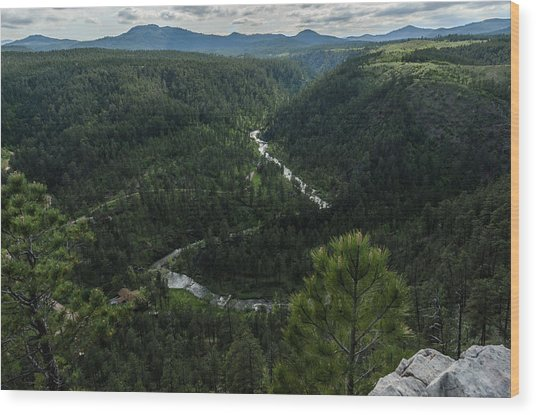 Stratobowl Overlook On Spring Creek Wood Print