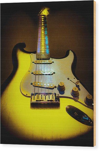 Stratocaster Lemon Burst Glow Neck Series Wood Print