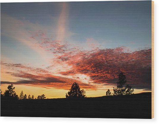 Stratocumulus Sunset Wood Print