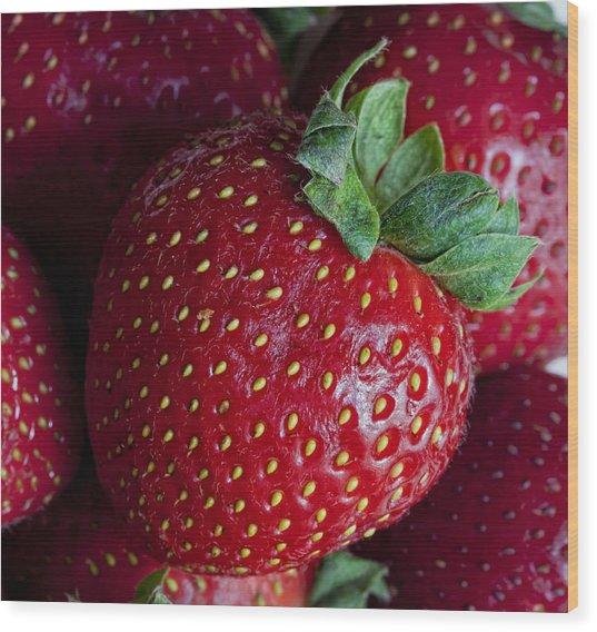 Strawberry 3 Wood Print