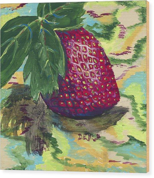 Strawberry Wood Print by Davis Elliott