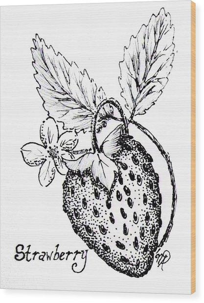 Strawberry Dreams Wood Print