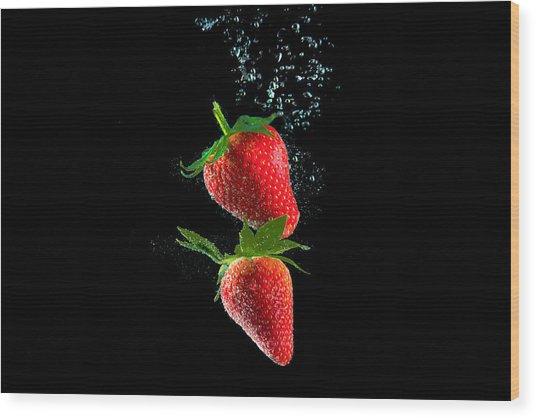 Strawberry Falls Wood Print