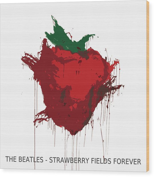 Strawberry Fields Forever  Wood Print by Koichi Endo