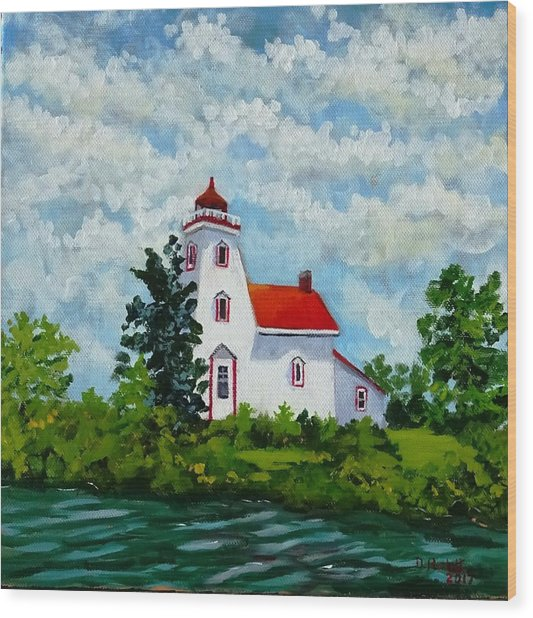Strawberry Island Lighthouse, Manitoulin Island Wood Print