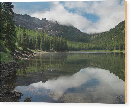 Strawberry Lake Wood Print