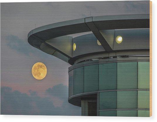 Strawberry Moon - Radisson Plaza Hotel Wood Print