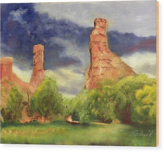 Strawberry Pinnacles Wood Print