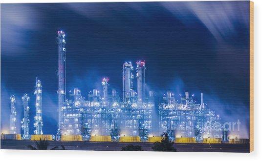 Stream Power Plant Wood Print
