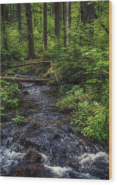 Streaming Wood Print