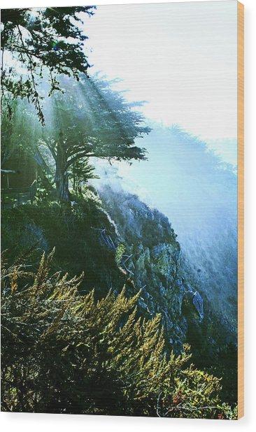 Streams Of Light Wood Print