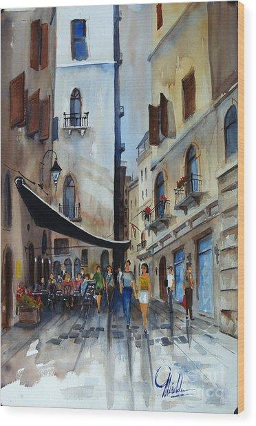Taverna D' Strada Wood Print