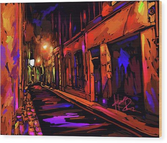 Street In Avignon, France Wood Print
