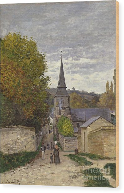 Street In Sainte Adresse Wood Print