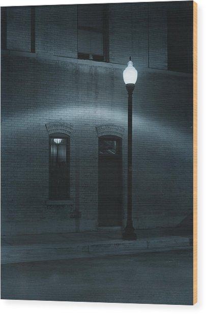Street Lamp Arc Wood Print by Jim Furrer