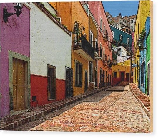 Street Of Color Guanajuato 5 Wood Print