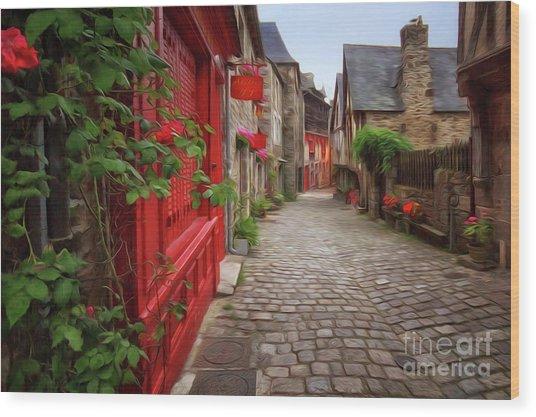 Street Of Dinan 2 Wood Print