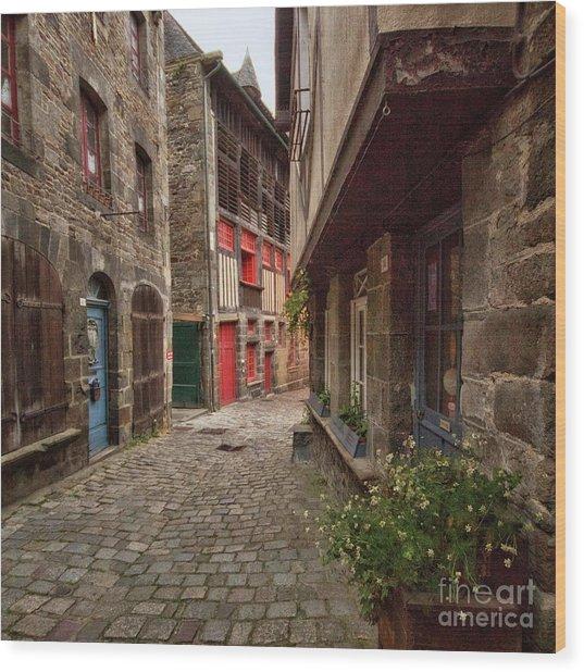 Street Of Dinan Wood Print