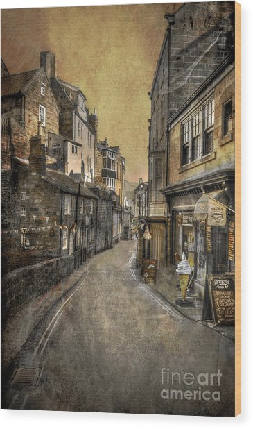 Street Of My Memory Wood Print