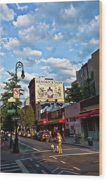 Street Scene In New York Wood Print