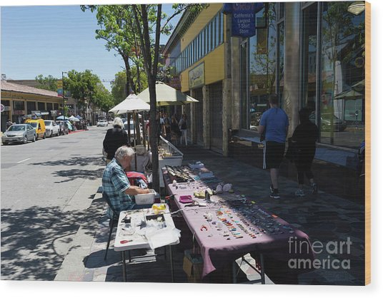 Street Vendors On Telegraph Avenue At University Of California Berkeley Dsc6236 Wood Print