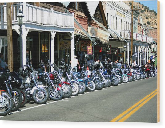 Street Vibrations In Virginia City Nevada Wood Print