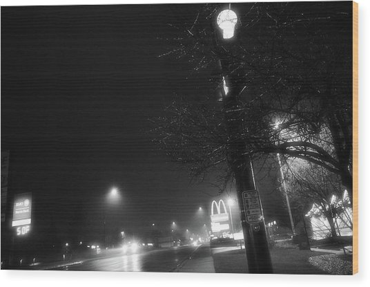 Streetlights Wood Print