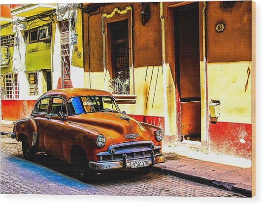 Streets Of Havana Wood Print