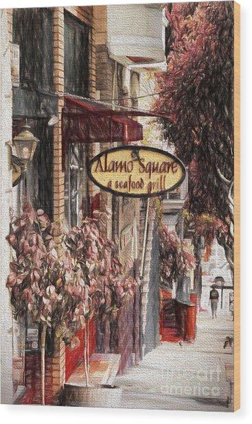 Streets Of San Fran Wood Print