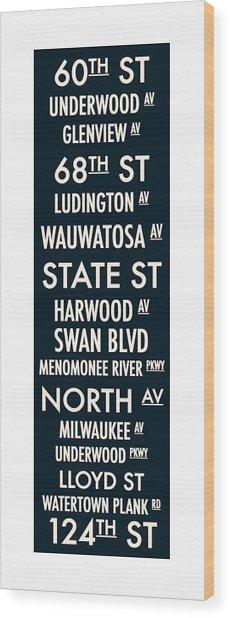 Streets Of Wauwatosa Wood Print