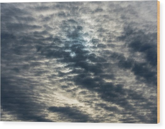 Striated Clouds Wood Print