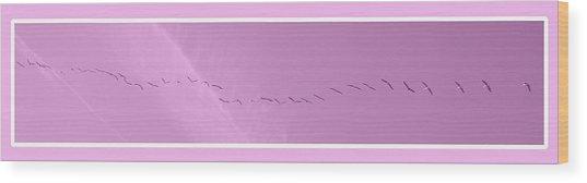 String Of Birds In Rose Pink Wood Print